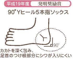 90°Yヒール5本指ソックス